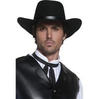 Smiffys Authentic Western Gunslinger Hat Black
