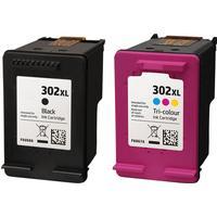 Rabatt! HP 302XL svart + färgbläckpatron 37ml kompatibel