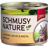 Schmusy Nature - Wild Tuna Pasta & Apple Pulp 6x190 g