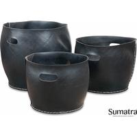 Sumatra Brændekurv u/hank sæt med 3