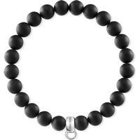 Thomas Sabo Charm Club Armband 16.5cm - Silver/Obsidian