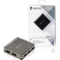 König König USB 2.0-switch med 7-portar (CSU2H7P100BL)