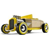 Automoblox Mini Bil Hot Rod Roadster Gul