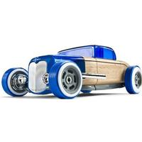 Automoblox Bil Hot Rod Coupe Blå