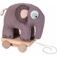 Sebra Hæklet Elefant På Hjul
