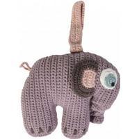 Sebra Crochet Musical Pull Toy Elephant Pastel Lilac