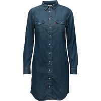 Levi's LS Iconic Western Dress San Fr - Blues