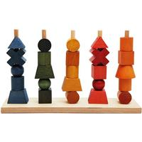Wooden Story Rainbow Staking Toy