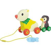 Vilac The Bear & the Penguin Pull Along Musical Toy 4651