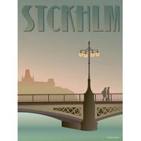 Vissevasse Stockholm Vasa Bridge 30x40cm Affisch