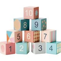 Kids Concept Edvin Wooden Stacking Blocks with Numbers & Shapes