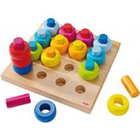 Haba Pegging Game Rainbow Whirls 002202