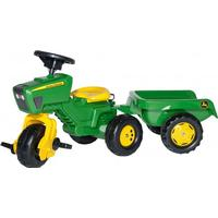 Rolly Toys John Deere Trio Trac with Electronic Steering Wheel & Trailer