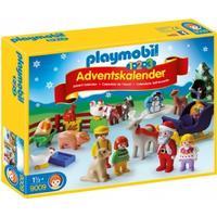 Playmobil 1.2.3 Adventskalender Jul På Bondgården 9009