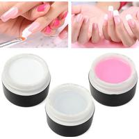 3 Colors Nail Art UV Gel Extension Builder Glue Manicure White Pink Clear