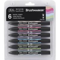 Winsor & Newton Brush Marker Pastel Tones 6-pack
