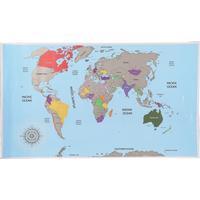 Scratch Scratch Map 88cm Plakater