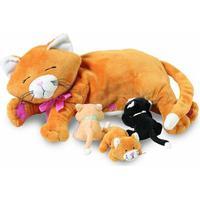 Manhattan Toy Mjukiskatt Med kattungar