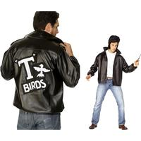 Smiffys T-Bird With Embroidered Logo Jacket Black
