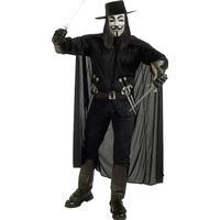 Rubies Costumes Co. V for Vendetta Maskeraddräkt - Standard