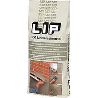 Lip 350 universalmørtel grå 25kg hæfte og filtsemørtel