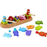 Barbo Toys Fiskebåt med Magnet i Trä 5970