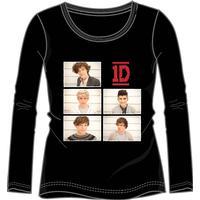 One Direction - 1D ONE DIRECTION längärmad t-shirt, svart
