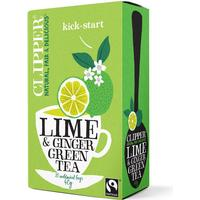 Clipper Green Tea With Lime & Ginger 20 Tepåsar
