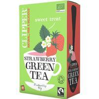 Clipper Strawberry Green Tea 20 Tepåsar