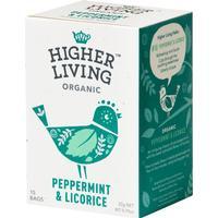 Higher Living Peppermint & Licorice 15 Tepåsar