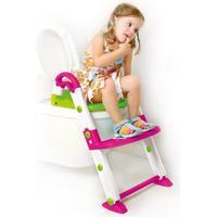 Rotho Babydesign Rotho Kidskit Toalettsits med stege 3-in-1 rosa, vit, grön
