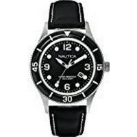 Nautica Men's Quartz Watch A15641G with Leather Strap