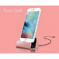 Dockningstation laddare för iPhone 5,5S, 6, 6S, 6plus - Rosé gold