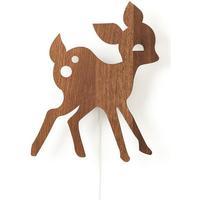 Ferm Living My Deer Røget Eg Væglampe
