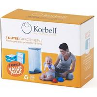 Korbell Nappy Bags Refill 3-pack