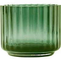 Lyngby Porcelain Lyngby Ljuslykta liten glas Grön