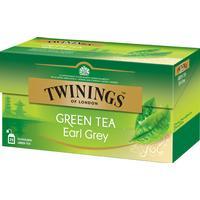 Twinings Grönt Earl Grey 25 Tepåsar