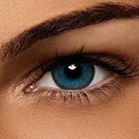 Air Optix Colors, brilliant blue, Monatslinsen weich, 2 Stück / BC 8.6 mm / DIA 14.2 / /0.5 Dioptrien