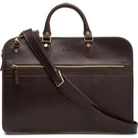 Baron Small Zip Briefcase - Brown Leather (236502)
