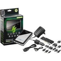 Tecxus - USB PowerBank 10000mAh LiPol m. ladere + stiksort.