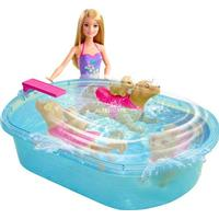 Mattel Barbie Doll & Swimmin Pup Pool