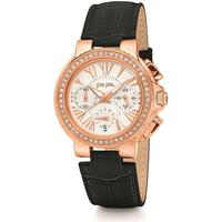 Bellamia Boutique Folli Follie Watchalicious Small Rose Gold with Black Strap