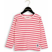 Mini Rodini Stripe Rib Long Sleeve T-Shirt - Pink