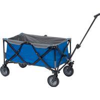 Blå foldbar trækvogn - Høj bæreevne på 100 kg