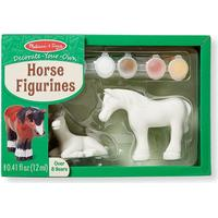 Melissa & Doug Decorate Your Own Horse Figurines