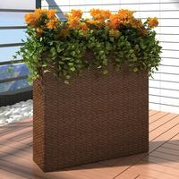 vidaXL Flower Pot Rattan Elongated 79cm