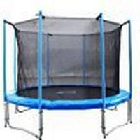 FA Sports – Garden Trampoline with Safety Net 12ft Flyjump Monster II, Blue, 1221