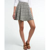 Superdry Oakland Skater Skirt Black/Off white (62788)