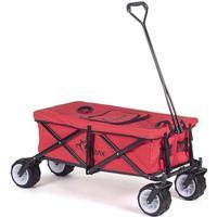 Foldbar Trækvogn med køleboks og overtræk - Rød