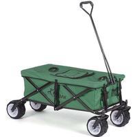 Foldbar Trækvogn med køleboks og overtræk - Grøn